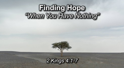 finding Hope in Nothing