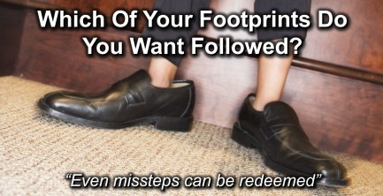 Fathers footprints